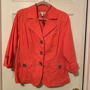 Like new Coldwater Creek 3/4 sleeve blazer